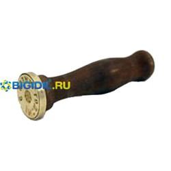 Печать латунная с деревян ручкой D30.