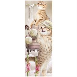 """Закладка для книг 3D 152*52 мм """"Котята"""", декоративный шнурок - фото 7149"""