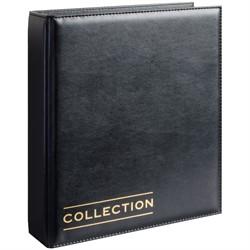 """Альбом для монет """"Optima"""" 230*270 на кольцах, без листов, иск. кожа, черный - фото 7152"""