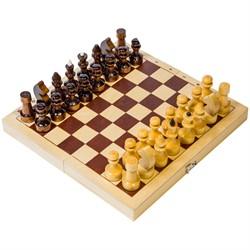 Шахматы походные деревянные с доской - фото 7859