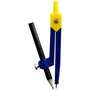 Циркуль пластиковый с карандашом, ПВХ чехол