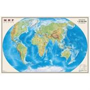 """Карта """"Мир"""" физическая 1:35млн. (0,58*0,9) мелованная бумага"""