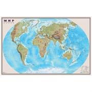 """Карта """"Мир"""" физическая 1:25млн. (1,22*0,79)"""