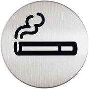 """Инф. табличка """"Место для курения"""", матированная сталь"""