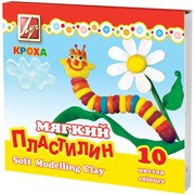 "Пластилин мягкий ""Кроха"" 10 цветов, со стеком, картон"