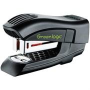 """Мини-степлер №26/6 до 15 л """"Greenlogic"""", пластиковый корпус, черный, антистеплер"""