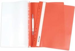 Папка-скоросшиватель пластик. перф. А4, 180мкм, оранжевая