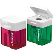 Точилка пластиковая, 1 отверстие, контейнер, ассорти