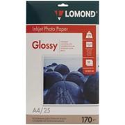 Бумага А4 для стр.принтеров LOMOND 170г/м2 (25л) гл.одн., тип покрытия Cast Coated