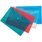 """Папка-конверт на липучке А4, """"Envelope Folder"""", прозрачная, ассорти"""