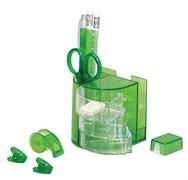 Органайзер настольный детский 13 предметов, зеленый, вращающийся