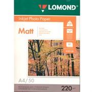 Бумага А4 для стр.принтеров LOMOND 220г/м2 (50л) мат.дв.