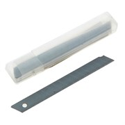 Лезвия для канцелярских ножей 9 мм, 10 шт в пластиковом пенале