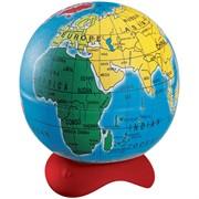 """Точилка пластиковая """"Globe"""", 1 отверстие, металлический контейнер, ассорти"""