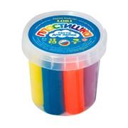 """Тесто для лепки 7 цветов*15гр, """"Пластишка"""" в пластиковом стакане"""