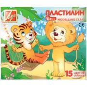 """Пластилин """"ZOO"""" 15 цветов, 203 гр, картон"""