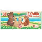 """Гуашь """"ZOO"""" (""""Мини"""") 12 цветов, 15мл, блок-тара"""