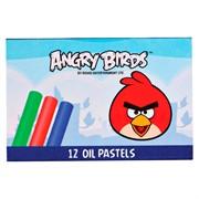 "Мелки масляная пастель ""Angry Birds"", 12цв., картон. уп."