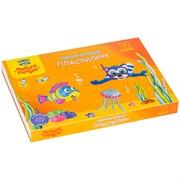 """Пластилин Мульти-Пульти """"Енот в Черном море"""", 12 цветов, 144 г., плавающий, перлам., квадратный, картон"""