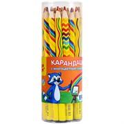 """Карандаш Мульти-Пульти """"Енот и радуга"""" с многоцветным грифелем, кругл., заточен., ассорти"""