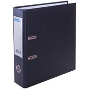 Папка-регистратор OfficeSpace, 70мм, бумвинил, с карманом на корешке, черная