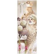"""Закладка для книг 3D 152*52 мм """"Котята"""", декоративный шнурок"""