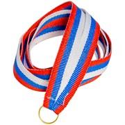 """Лента для медали """"Россия"""", ткань, триколор, 10мм"""